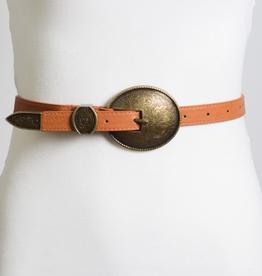Vintage Visions Buckle Belt- Camel