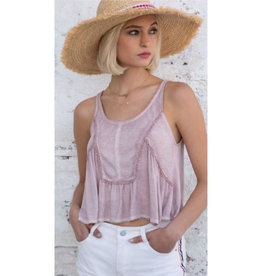 Stopping Time Rib Knit Paneled Crop Top - Pink