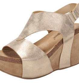 Curious Nature Slingback Wedge - Gold