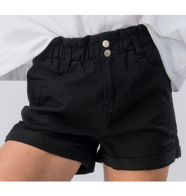 Blinded By The Light Vintage Denim Shorts - Black