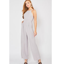 Effective Choices High Neck Jumpsuit - Grey