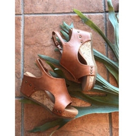Sunset Boulevard Wedge - Tan