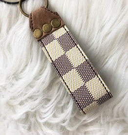 Upcycled GG Leather Keychain