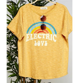 Sun Kissed Graphic Tee - Mustard