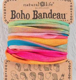 Boho Bandeau Hot Pink Rainbow