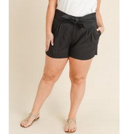 Cuts Me Deep Paper Bag Shorts - Black
