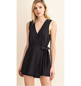 Secret To Happiness Wrap Romper - Black
