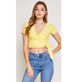 Nobody Like You Wrapped Crop Top - Yellow