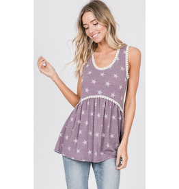 Starry Night Top - Lavender