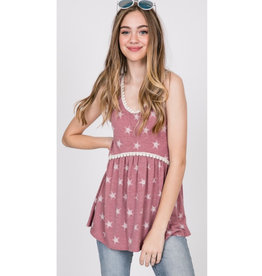 Starry Night Top - Mauve