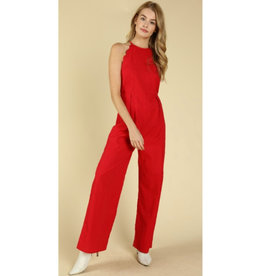 Day To Night Wide Leg Jumpsuit - Red