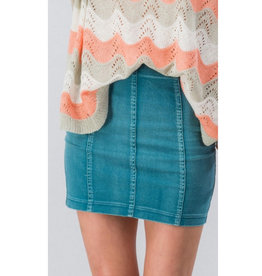 Never Looked Better Vintage Mini Skirt - Teal
