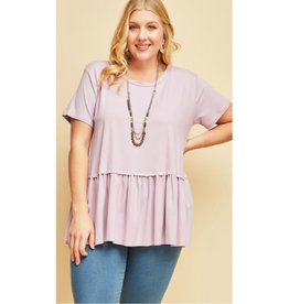 Gets Me Going Solid Scoop Neck Top - Lavender