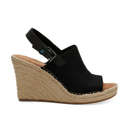 TOMS Monica Oxford Wedge - Black