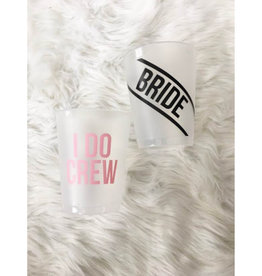 Bride/I Do Crew Reusable Cup Set