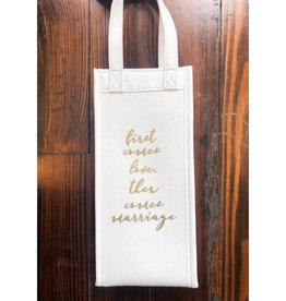 First Love Canvas Wine Bag