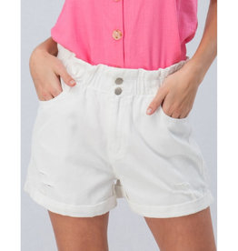 Blinded By The Light Vintage Denim Shorts - White