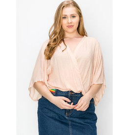 Workin' It Kimono Blouse - Peach