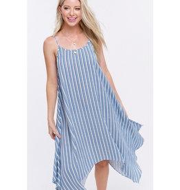 Such A Feeling Spaghetti Strap Midi Dress - Blue