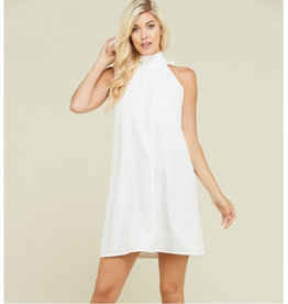 New Destinations Halter Dress with Back Tie - Ivory