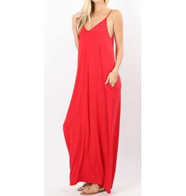 A Lively Love Maxi Dress - Ruby