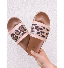 Downtown Lights Slip On Sandal - Leopard