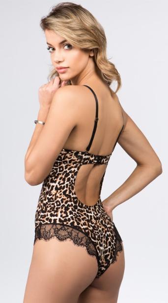 Arabella Mesh Bodysuit - Leopard