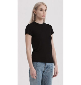 Always Busy Crew Neck Short Sleeve Top - Black