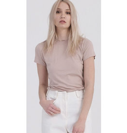 Always Busy Crew Neck Short Sleeve Top - Tan