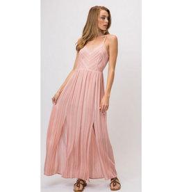 Happy Emotions Open Shoulder Maxi Dress - Peach