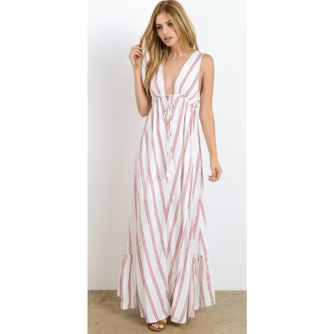 7fb3a4f134 Not Just A Pretty Face Maxi Dress - Apple Blossom - Cheeky Bliss