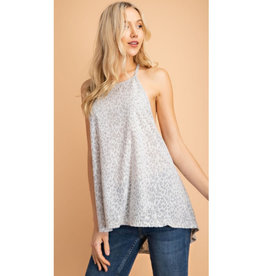 Break From Love Leopard Print Tank - Grey