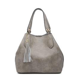 The Bailey 2 in 1 Satchel Bag- Grey