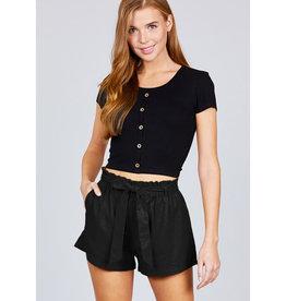 Breaking Wild Paperbag Shorts - Black