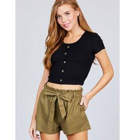 Breaking Wild Paperbag Shorts - Olive