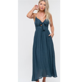 Link My Love To You Cutout Maxi Dress - Teal Green
