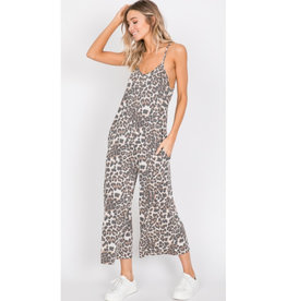 A Whole New World Animal Print Cami Jumpsuit - Brown