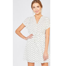 Be Graceful V-Neck Dress - White
