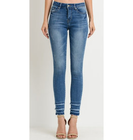 Listen and Laugh Mid-Rise Skinny Jeans - Medium Wash
