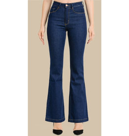 Written In The Sky Classic Flare Jeans - Super Dark Wash