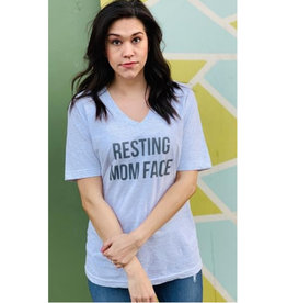 Resting Mom Face Graphic Tee - Ash