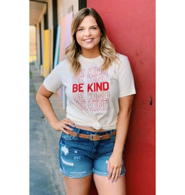 Be Kind Graphic Tee - Natural