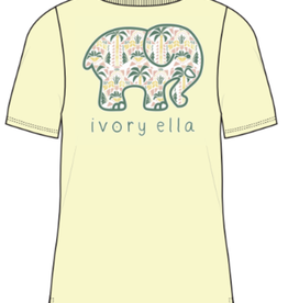 IVORY ELLA Aztec Palms - Pale Yellow