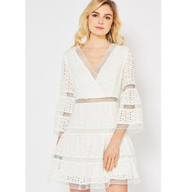 Care To Unwind Lace Dress - Off White