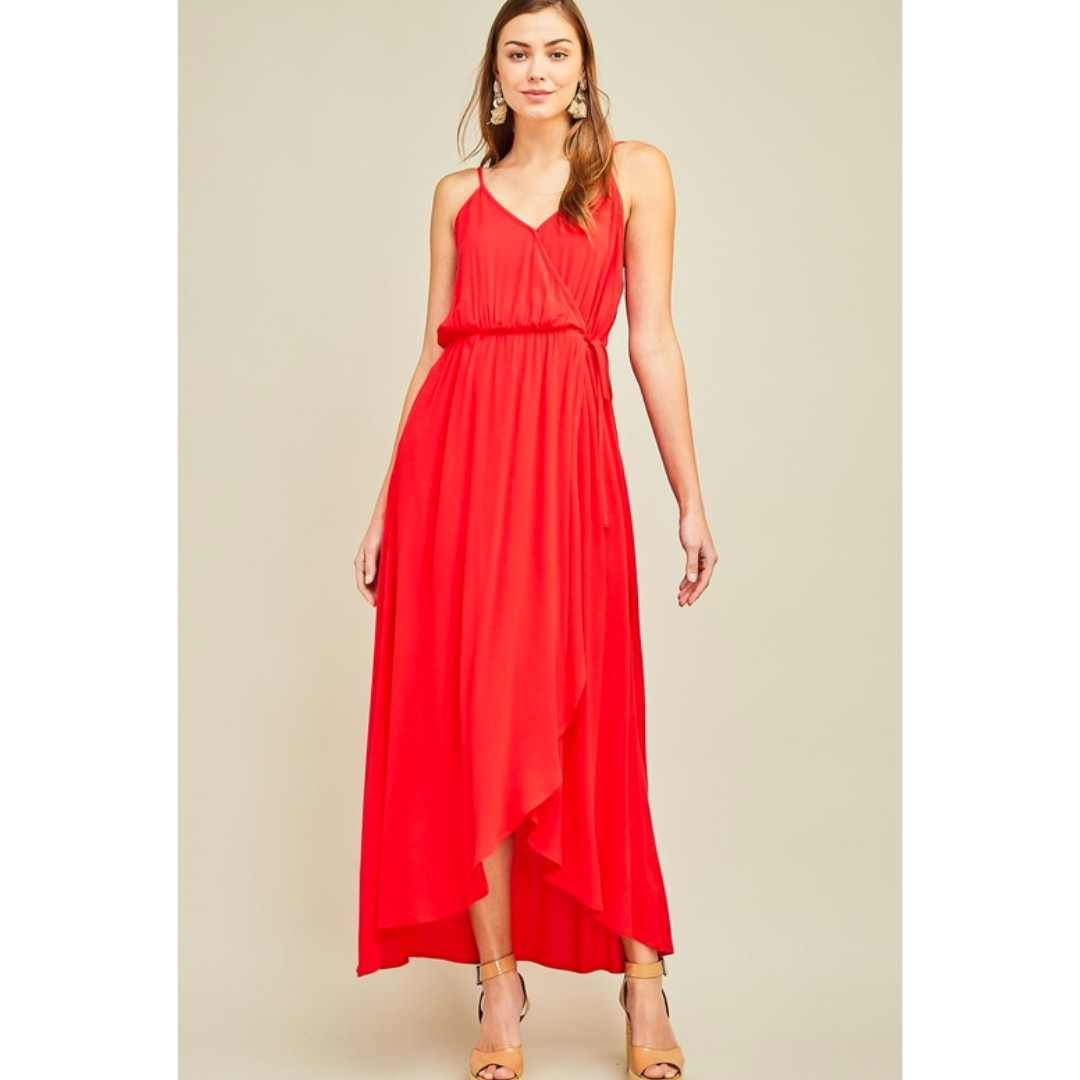 3d830b300a Entro I m A Woman Maxi Dress - Tomato - Cheeky Bliss