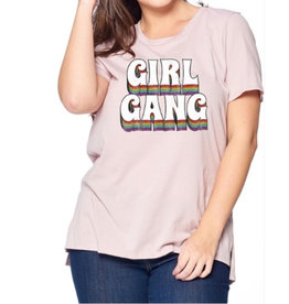 Girl Gang Graphic Tee - Champagne