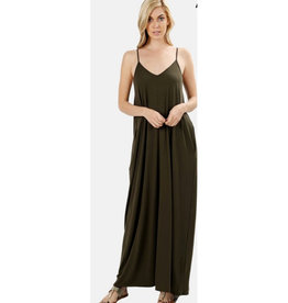 A Lively Love Maxi Dress - DK Olive