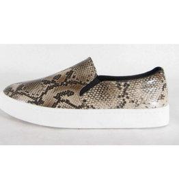 Kicked Back Slip On Sneaker - Camel Snake