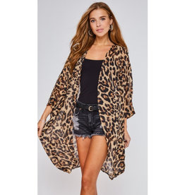 All Too Perfect Leopard Print Kimono - Leopard