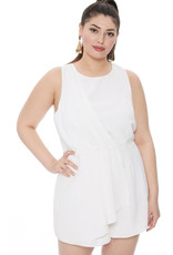 Up For Grabs Woven Romper - White